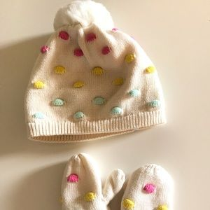 Baby Gap marching mittens and hat.